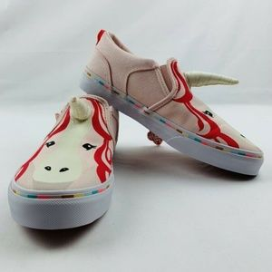 NEW VANS Asher Unicorn Shoes Glitter Girls Pink